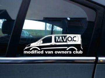 MVOC modified van owners club sticker - for Fiat Scudo 2nd gen SWB van (v2)